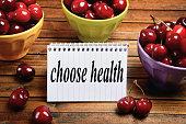 Choose health word