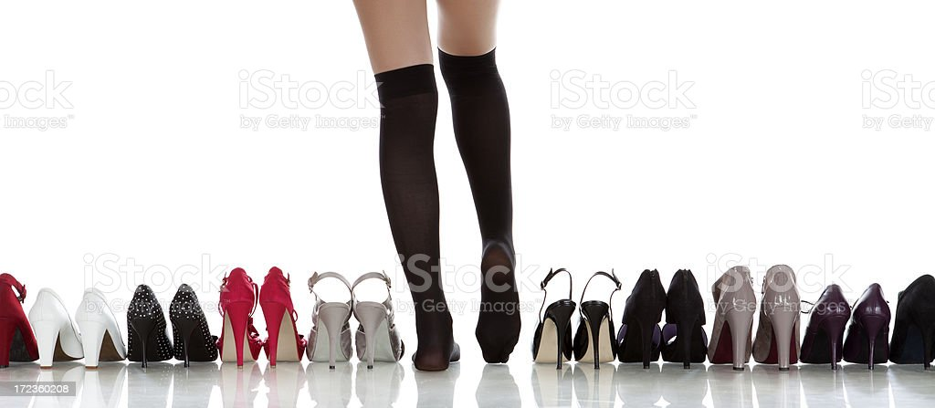 choose shoe royalty-free stock photo