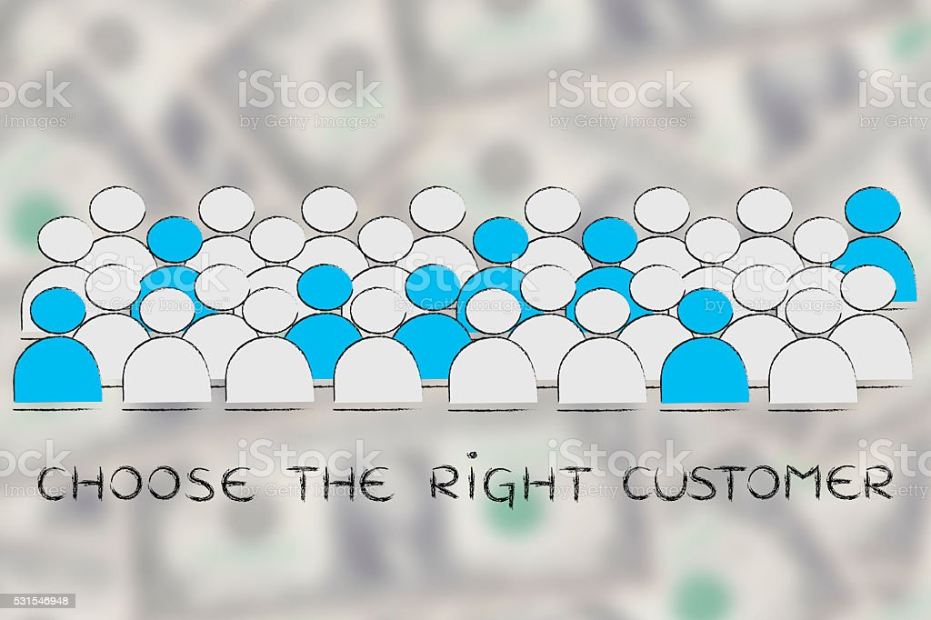 choose the right customer stock photo