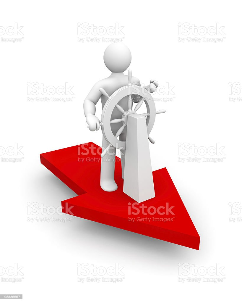 Choose the right direction royalty-free stock photo