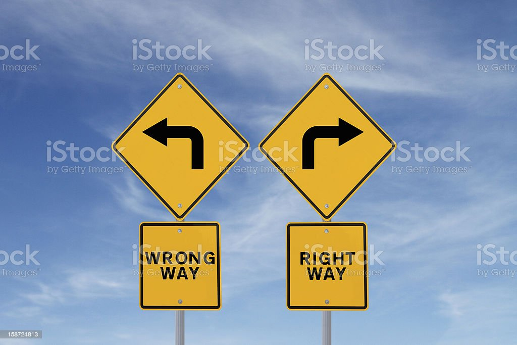 Choose The Right Way stock photo