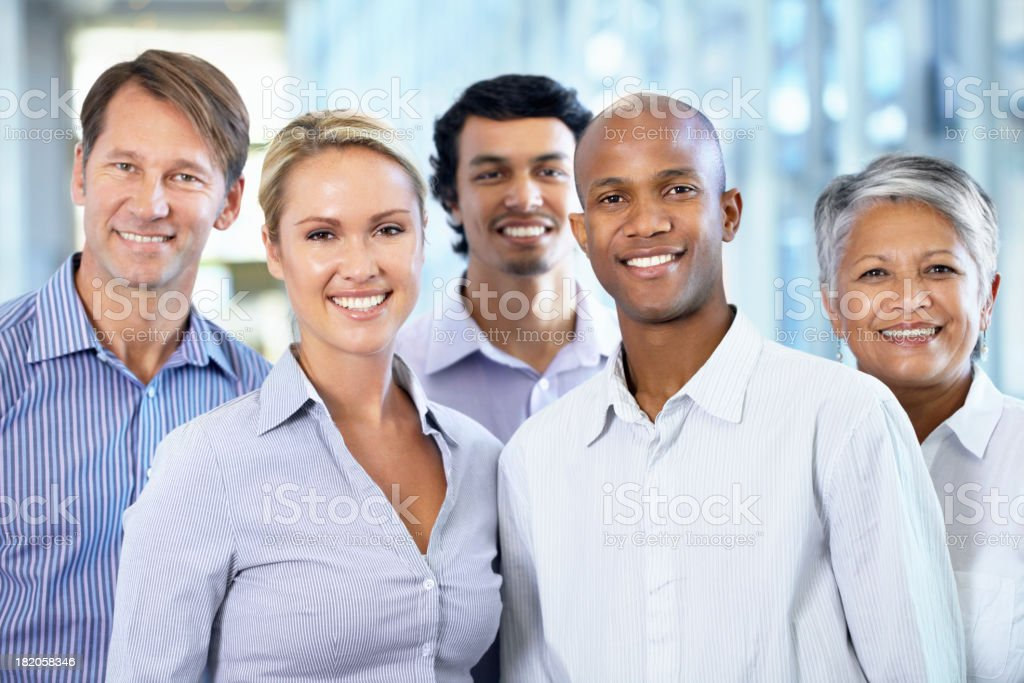 Choose this winning team to represent your business royalty-free stock photo