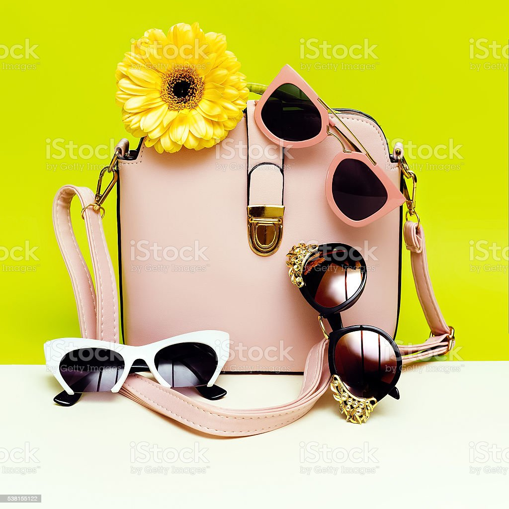 choose your sunglasses. your style. Women's fashion accessories. stock photo