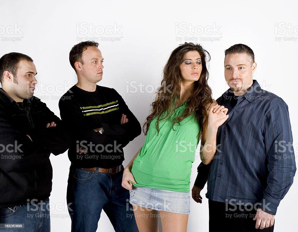 Choosing a man. stock photo