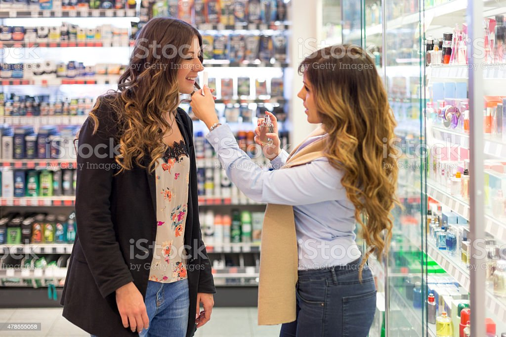 Choosing a perfect scent stock photo