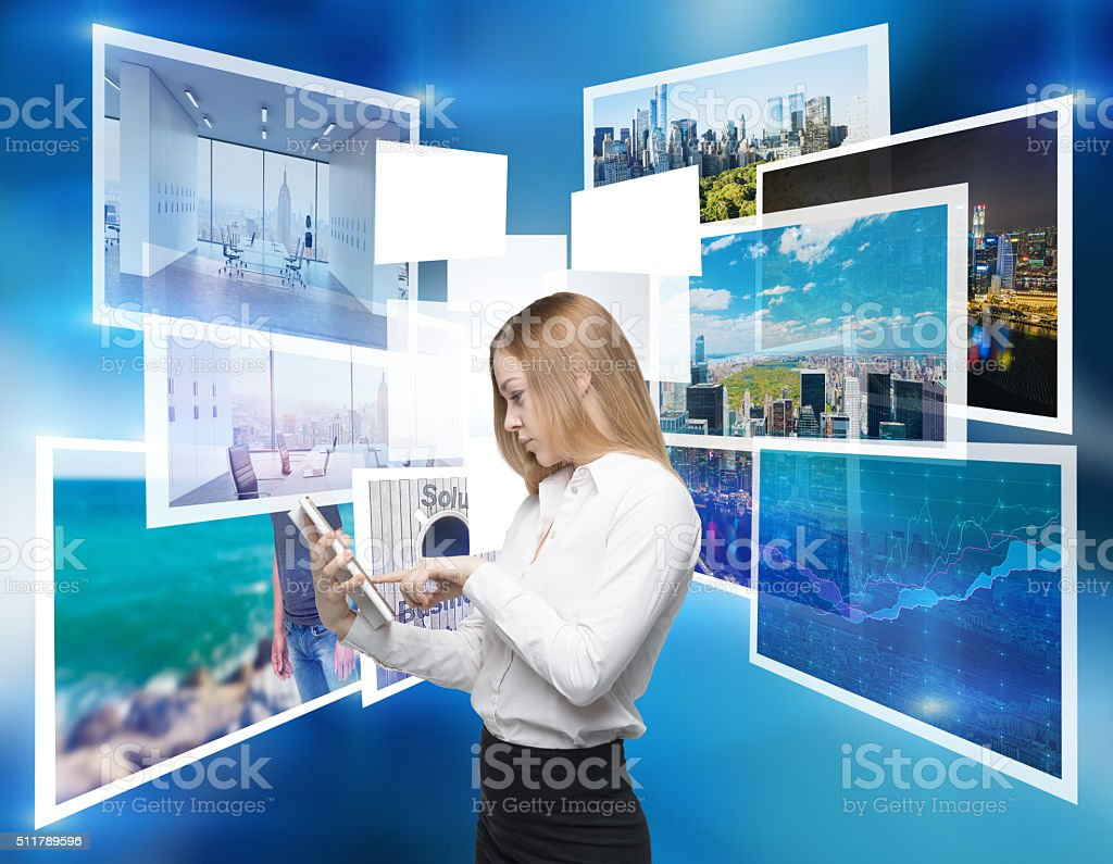 Choosing a picture stock photo