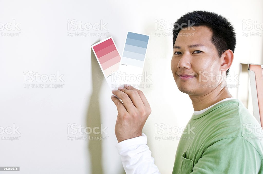 Choosing color tone royalty-free stock photo