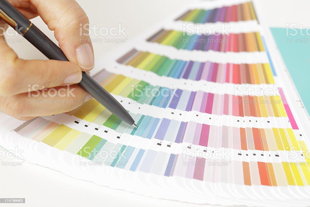 Choosing colors stock photo
