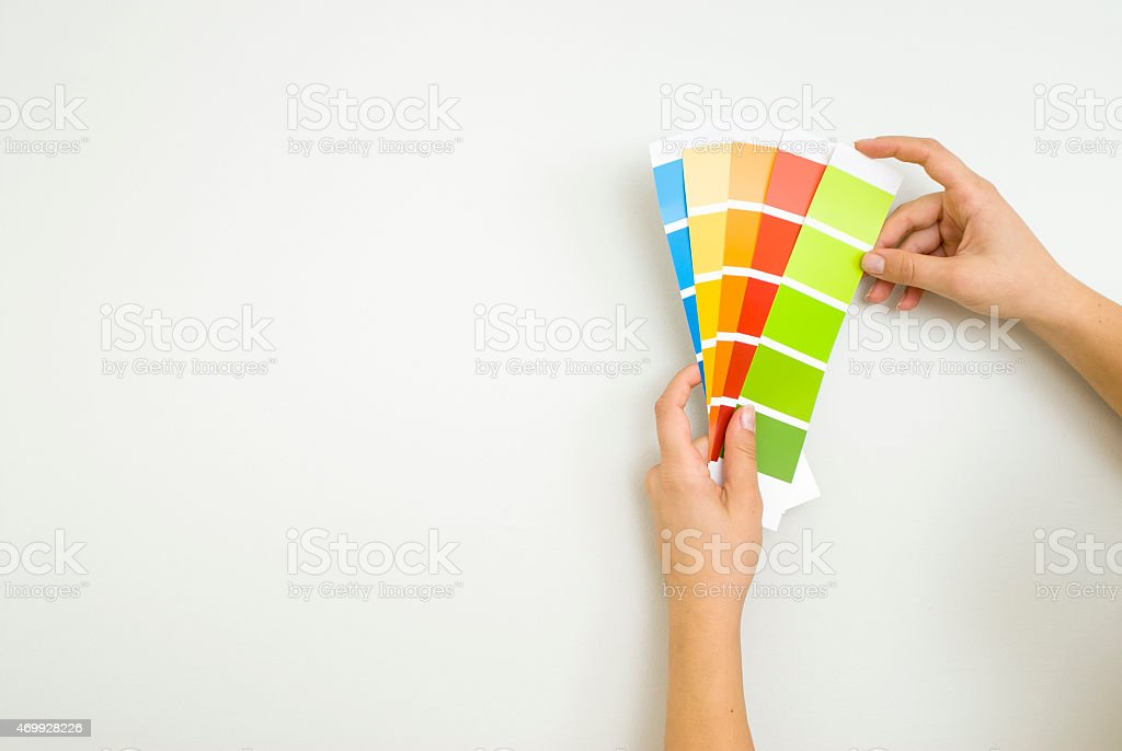 choosing colour scheme stock photo