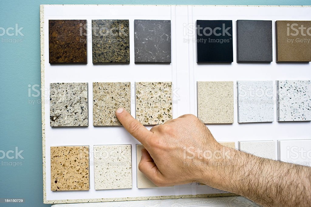 Choosing counter top pattern royalty-free stock photo
