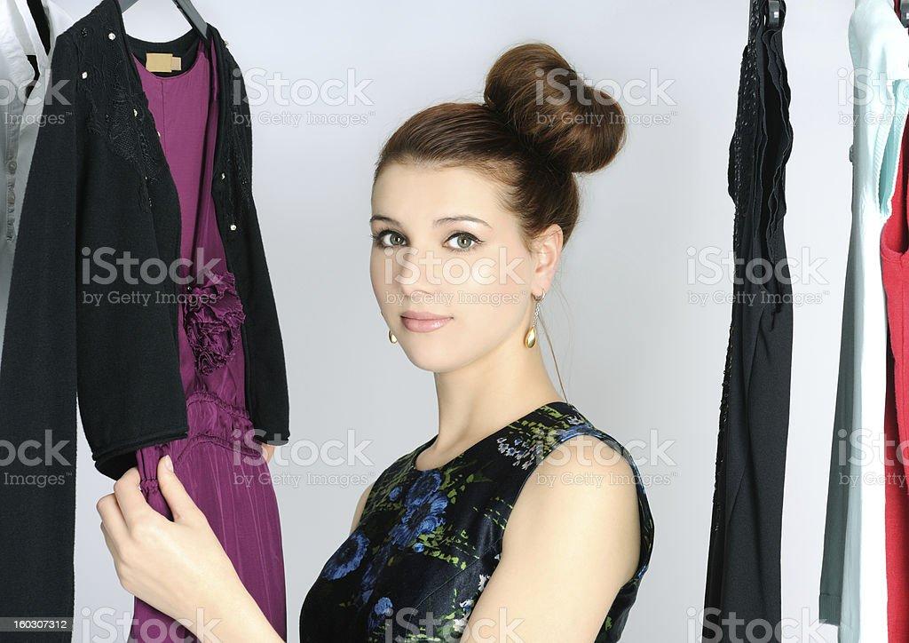 choosing dress royalty-free stock photo