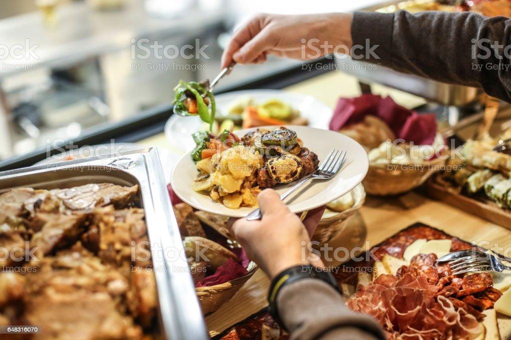 Choosing food stock photo