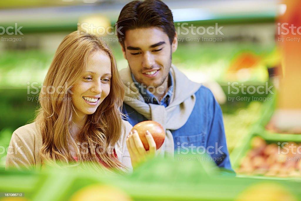 Choosing fruit royalty-free stock photo