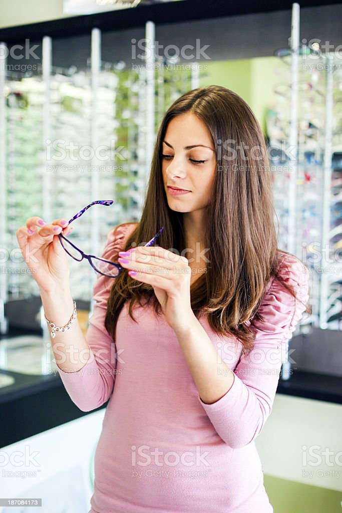 Choosing glasses royalty-free stock photo