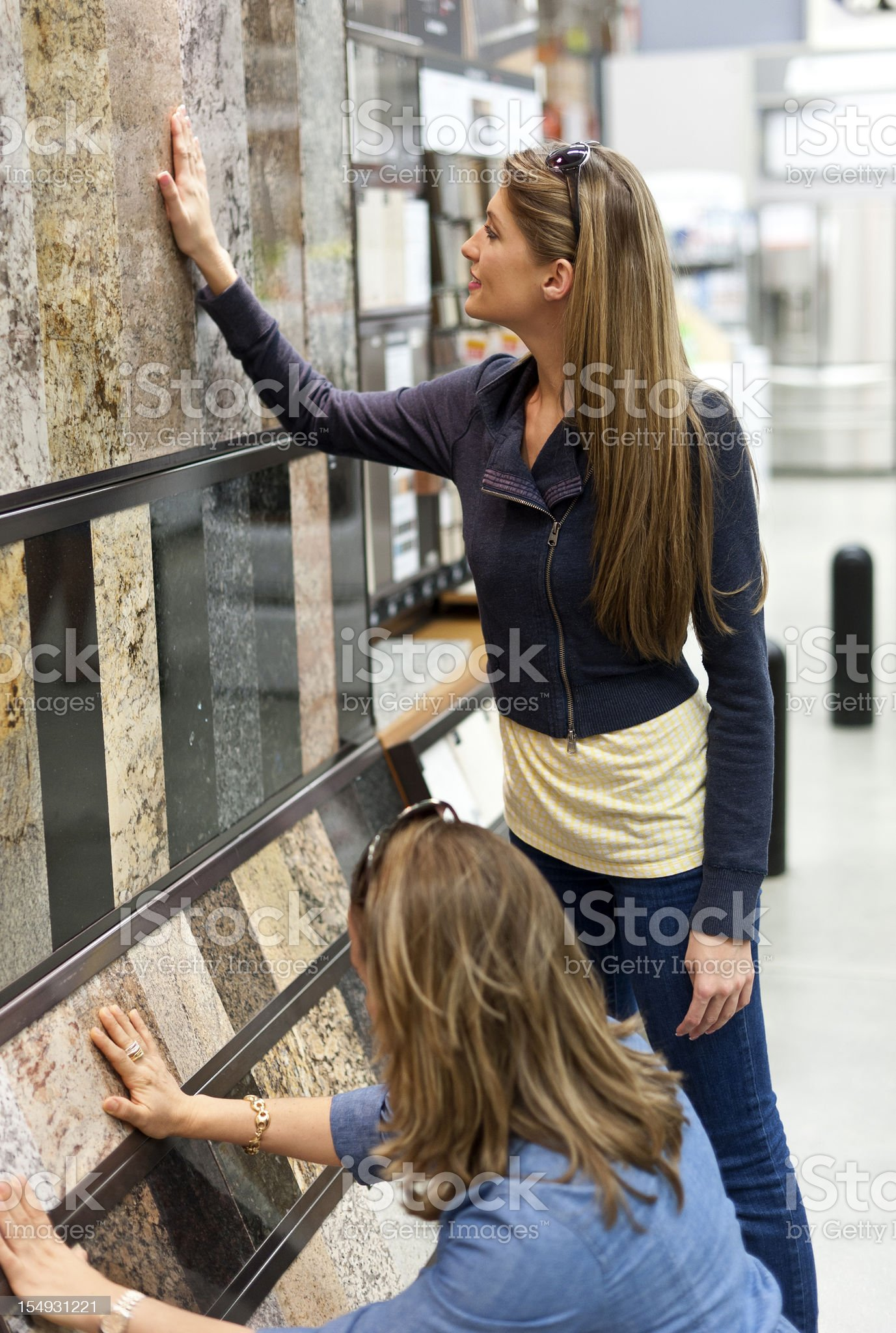 Choosing Granite Marble royalty-free stock photo