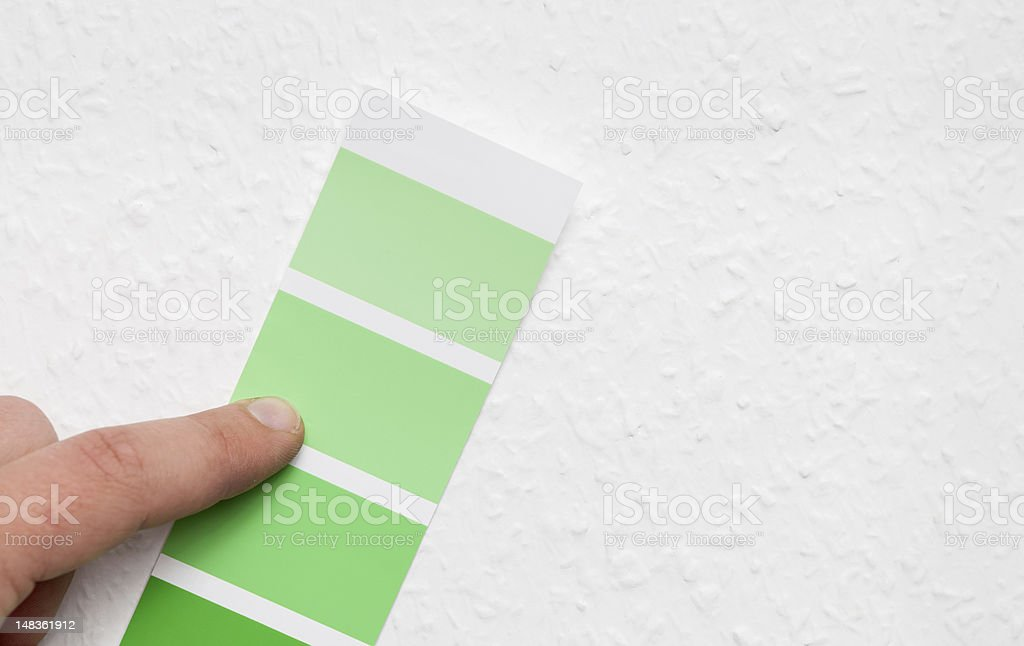 Choosing home wall color royalty-free stock photo