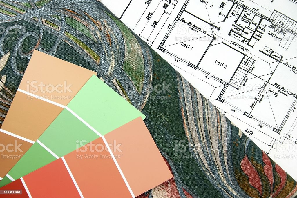 Choosing New Home Colours royalty-free stock photo
