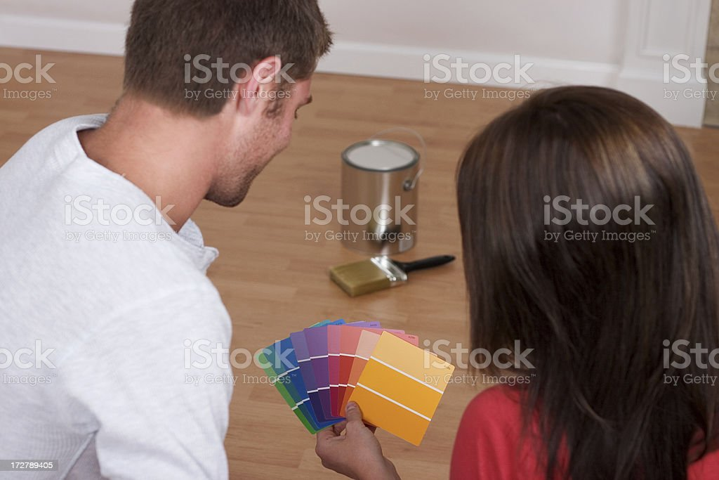 Choosing Paint Color royalty-free stock photo