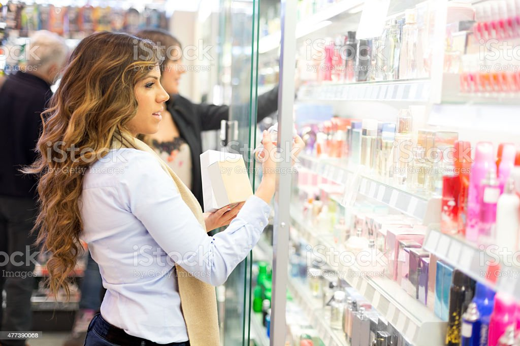 Choosing perfect scent stock photo