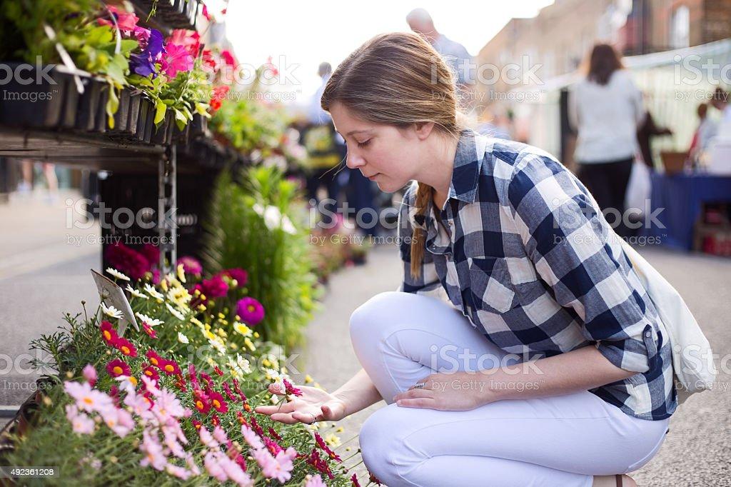 choosing plants royalty-free stock photo