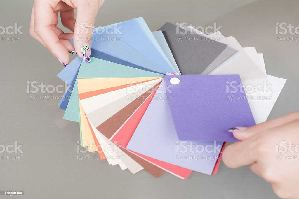 Choosing Right Colour royalty-free stock photo