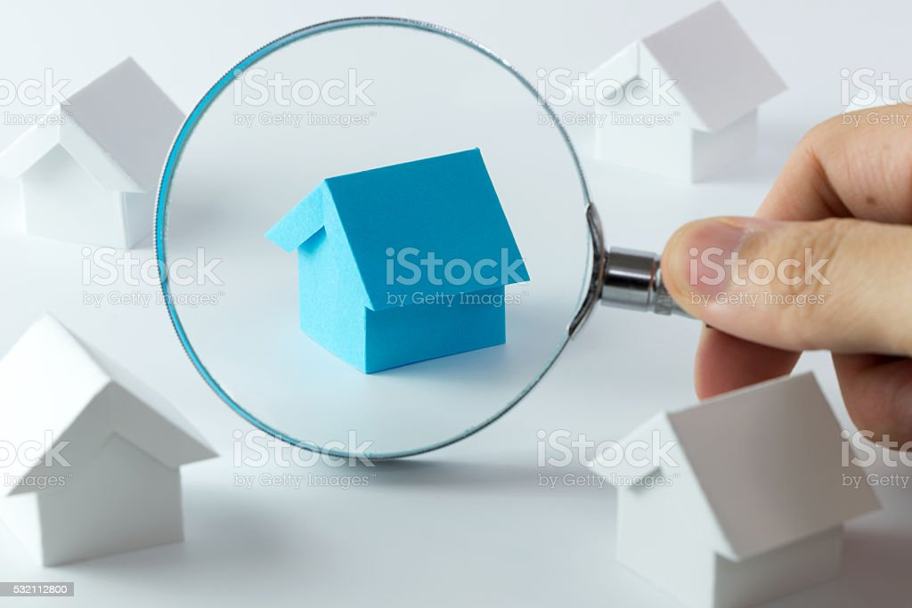 Choosing right house stock photo