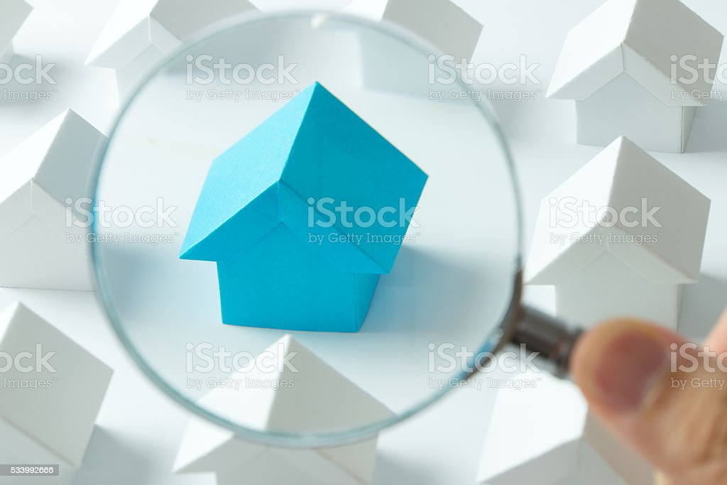 Choosing right house stock photo