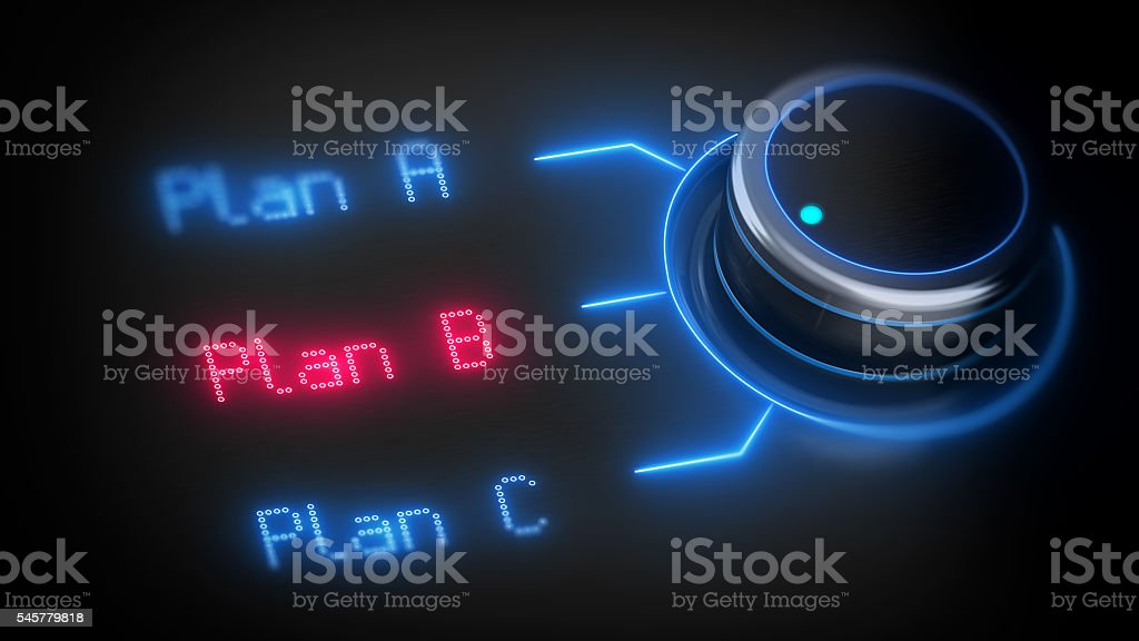Choosing right plan B stock photo