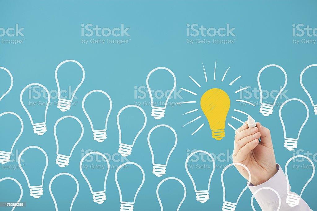 Choosing the right idea stock photo