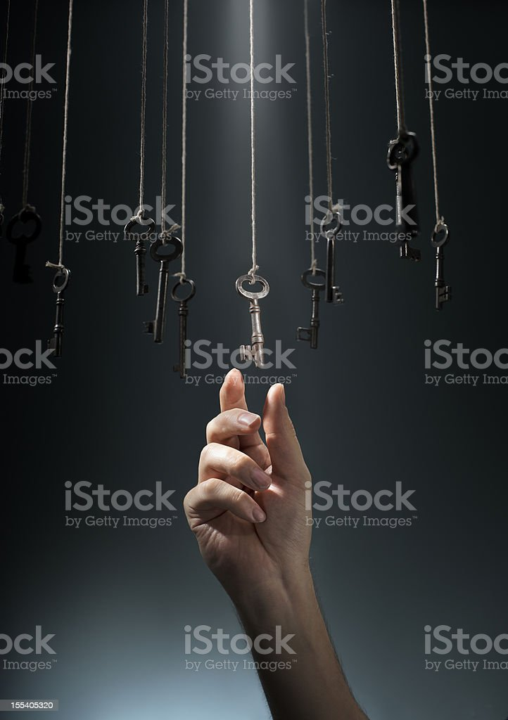 Choosing the Right One stock photo