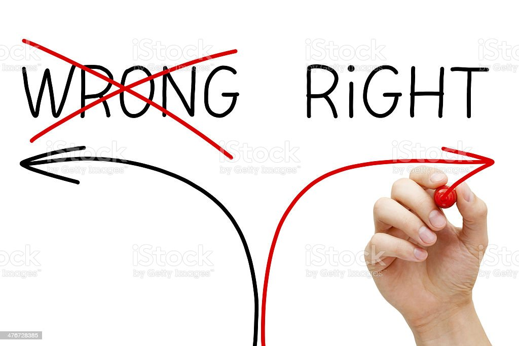 Choosing The Right Way stock photo