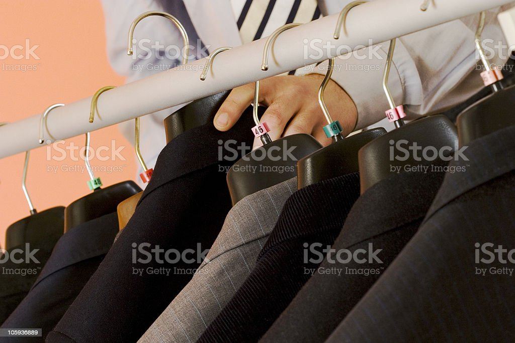 Choosing the suit royalty-free stock photo