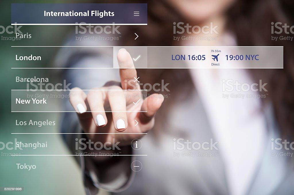 Choosing travel destination. stock photo