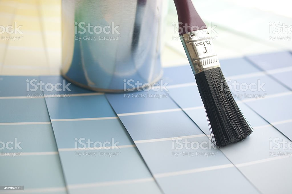 Choosing Your Color With Sample Color Chart Stock Photo 492862119