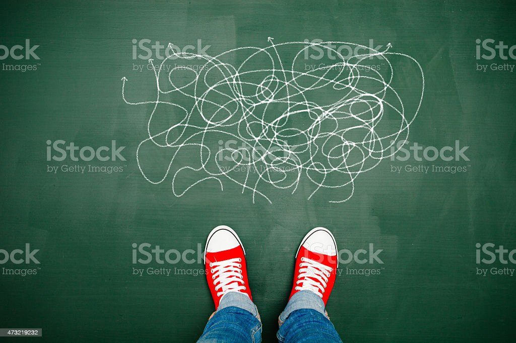 Choosing your way stock photo