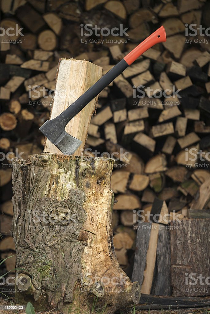 Chop firewood royalty-free stock photo