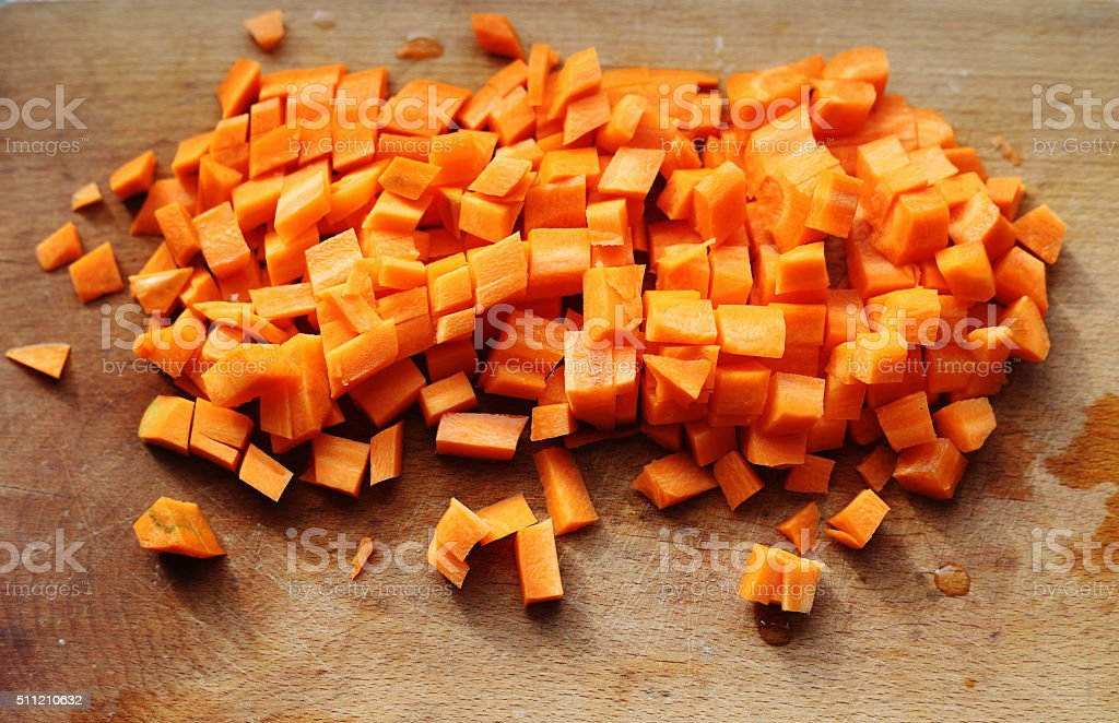 chop of carrot royalty-free stock photo