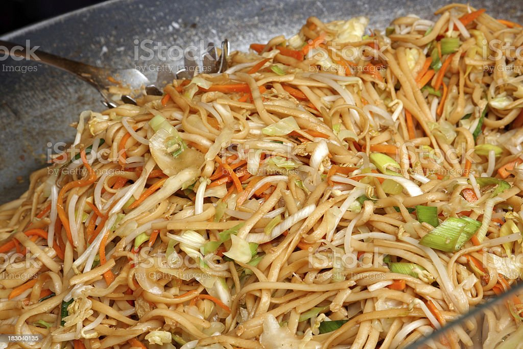 chop suey noodle dish royalty-free stock photo