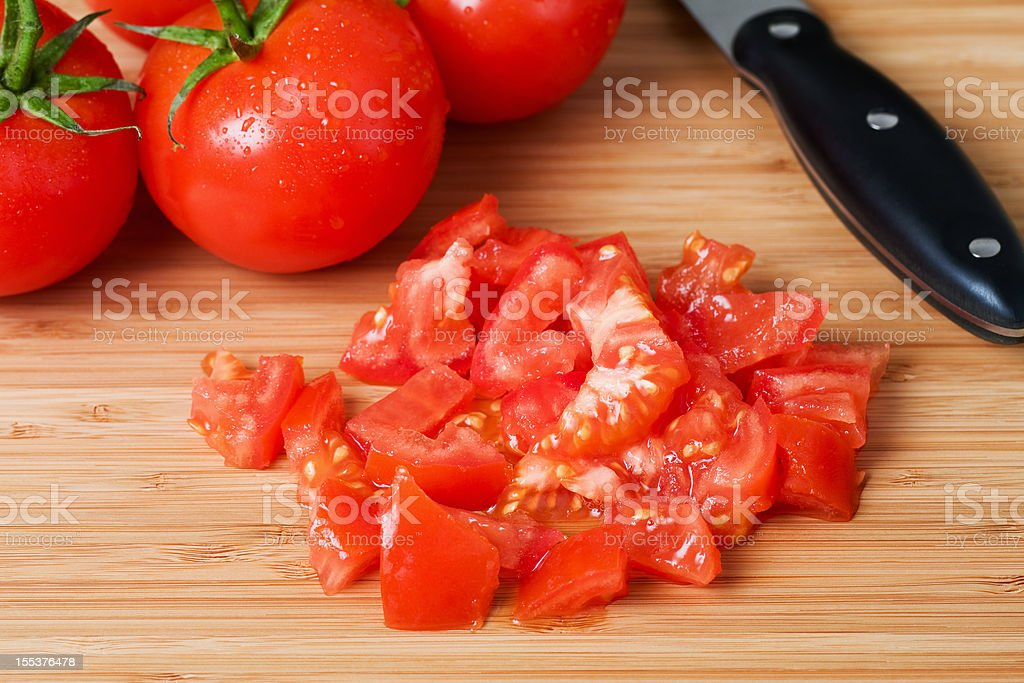 Chopped and Whole Tomatoes stock photo