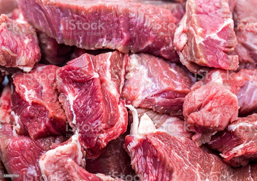 Chopped beef meat stock photo