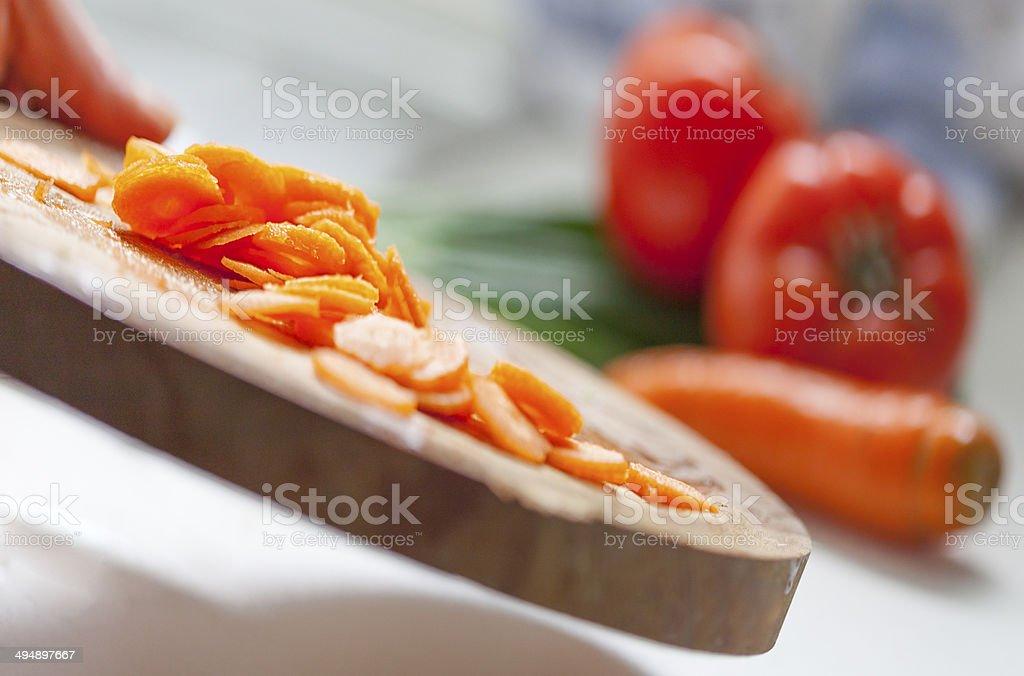 chopped carrot royalty-free stock photo