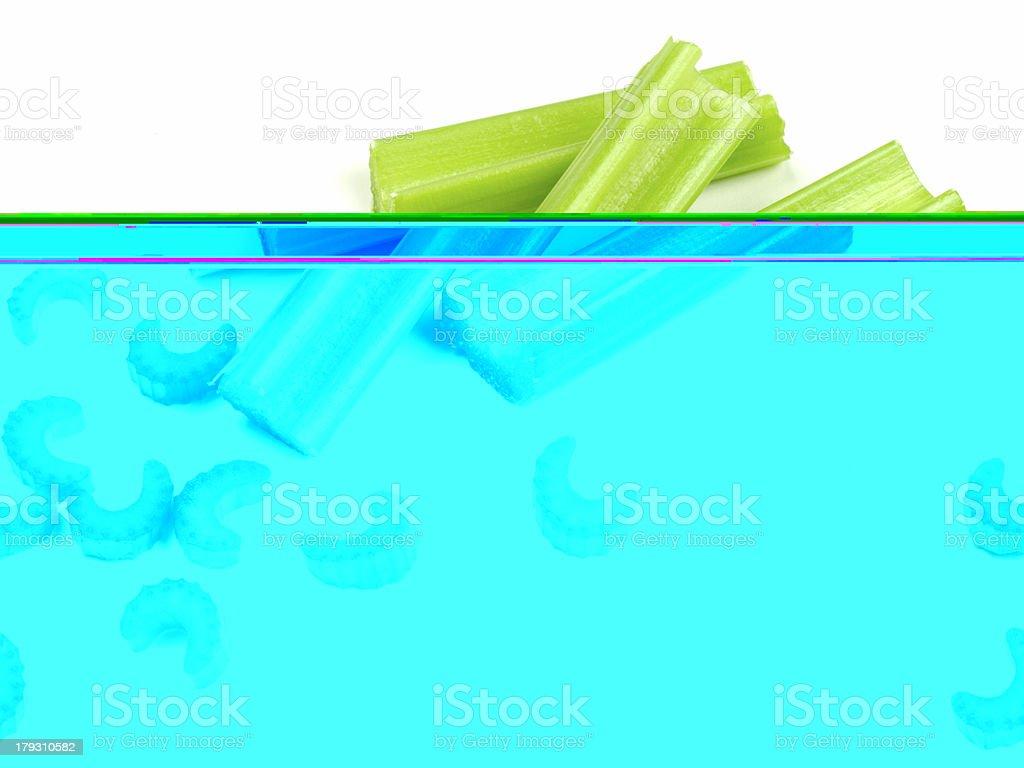 Chopped Celery Close-up stock photo