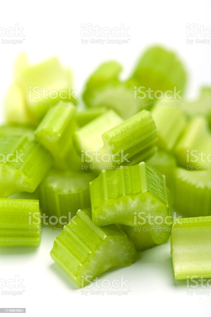 Chopped Celery stalk royalty-free stock photo
