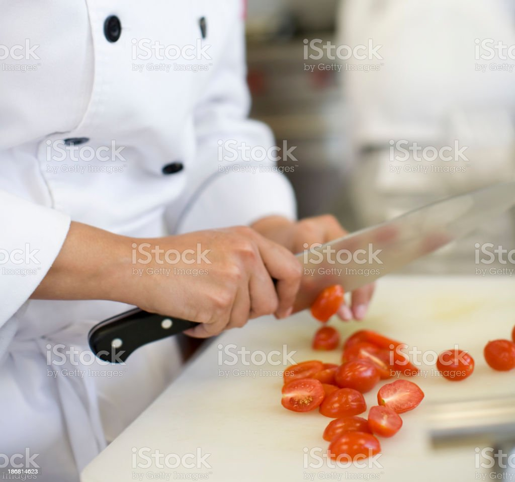 Chopped Cherry Tomatoes stock photo