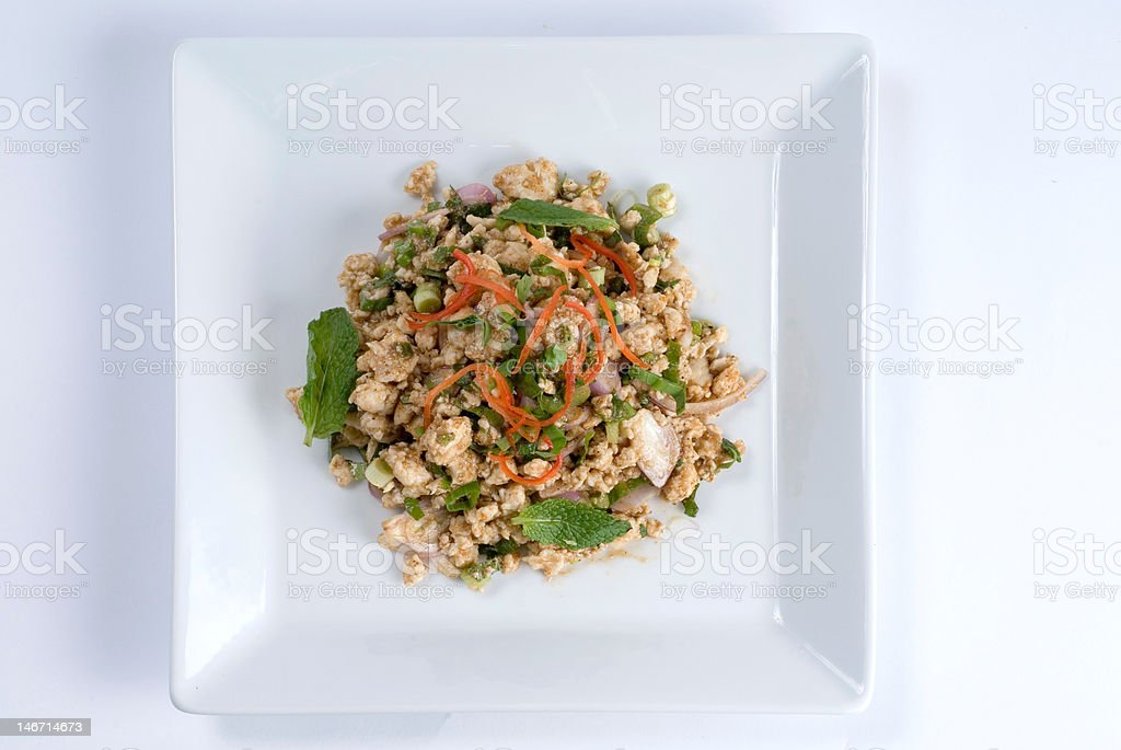 Chopped chicken salad royalty-free stock photo