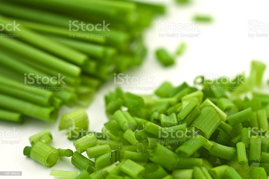 chopped chive - macro royalty-free stock photo
