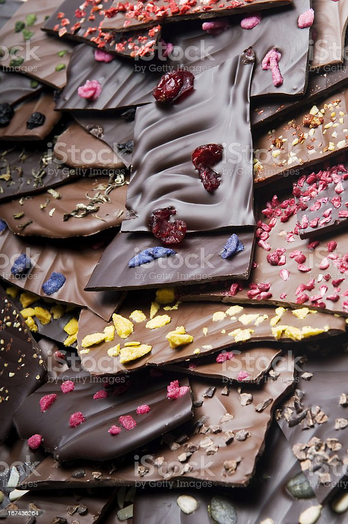 Chopped chocolate with stock photo