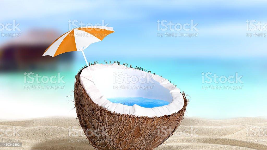 Haché à la noix de coco photo libre de droits