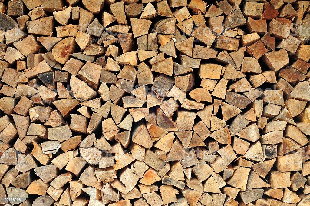 Chopped firewood pattern stock photo