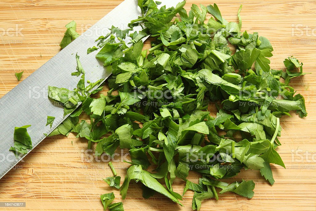 Chopped green parsley royalty-free stock photo